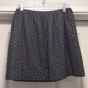 LOFT Navy/Grey Mini Skirt